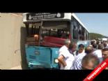 Ümraniyede Halk Otobüsü Kaza Yaptı