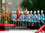 Cumhurbaşkanı Erdoğan için 101 pare top atışı  online video izle