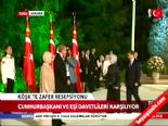 Başbakan Ahmet Davutoğlu ve eşi Sare Davutoğlu Köşk'te 'Zafer' resepsiyonunda Haberi online video izle