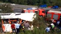 İstanbul-Ankara TEM Otoyolu'nda Otobüs Şarampole Devrildi  online video izle