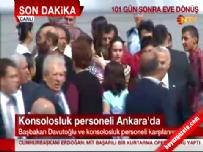Kurtarılan Konsolosluk çalışanları Ankara'ya Getirildi