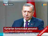 Cumhurbaşkanı Recep Tayyip Erdoğan Konsolosluk Görevlilerin Kurtarılması Hakkında Konuştu Haberi