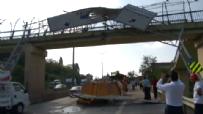 Damperini Açık Unutan Kamyon Sürücüsü Üstgeçite Çarptı / istanbul Haberi