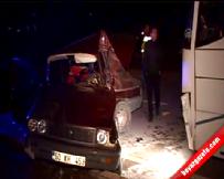 Tokat'ta yolcu otobüsü ile otomobil çarpıştı: 1 ölü, 1 yaralı