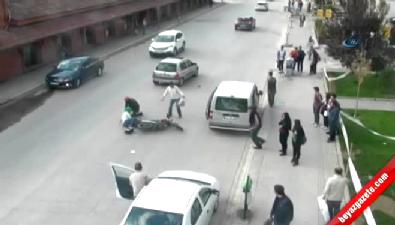 Dikkatsiz sürücülerin kazaları Mobese'ye yansıdı