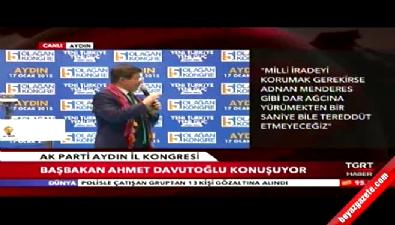 Ahmet Davutoğlu AK Parti Aydın İl Kongresi'nde konuştu