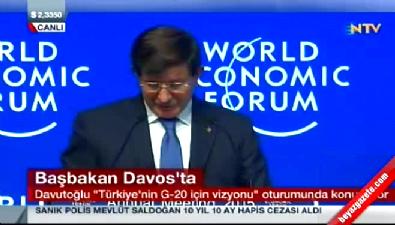 Davutoğlu Davos'ta!