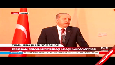 Cumhurbaşkanı Erdoğan Somali'de konuştu