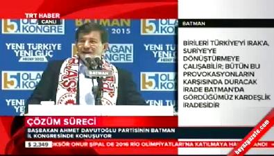 Başbakan Davutoğlu, AK Parti Batman İl Kongresinde konuştu