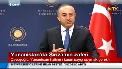 Mevlüt Çavuşoğlu: Syriza'yla çalışmaya hazırız
