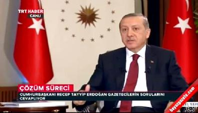 Cumhurbaşkanı Erdoğan: Çözüm sürecinde bazı arkadaşlar samimi değiller