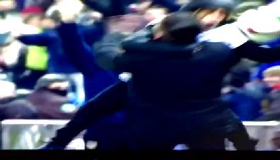 Simeone'nin ilginç gol sevinci