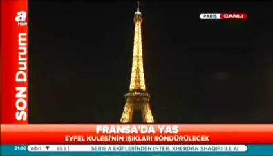 Eyfel Kulesi'nin ışıkları milli yastan dolayı söndürüldü