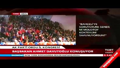 Başbakan Ahmet Davutoğlu Ordu il kongresinde açıklamalarda bulundu
