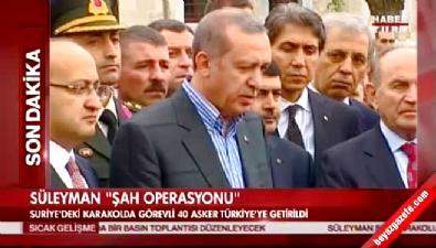 Erdoğan 4 Ekim 2014'te Süleyman Şah Türbesi'nin Önemini Anlattı
