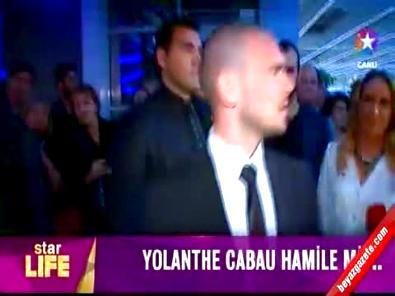 Wesley Sneijder ve Yolanthe Cabau'nun en mutlu günü