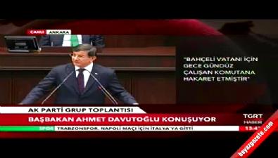Başbakan Davutoğlu'ndan Devlet Bahçeli'ye sert sözler