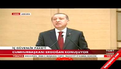 Erdoğan: Artık terörün temsili parlementoya girmiş