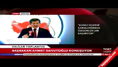 Başbakan Davutoğlu, Valiler Toplantısı'nda konuştu
