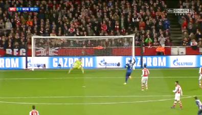 Arsenal 1-3 Monaco Şampiyonlar Ligi maçı golleri