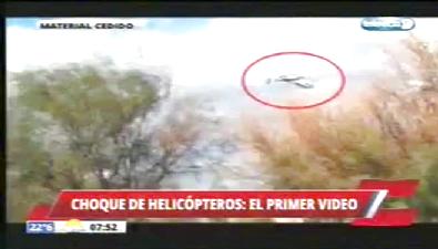 Arjantin'deki helikopter faciası kamerada