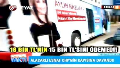Aylin Nazlıaka esnafı mağdur etti