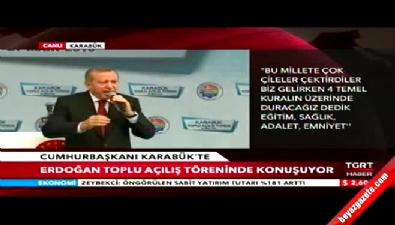 Cumhurbaşkanı Erdoğan Karabük'te konuştu