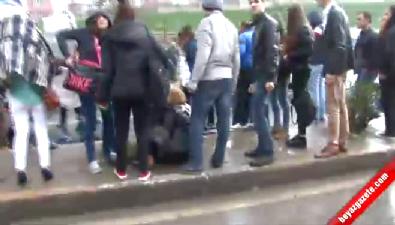 İHA muhabirine saldırı kamerada