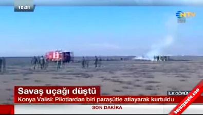 Bir uçak kazası da Konya'dan