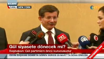 Başbakan Davutoğlu: Abdullah Gül için AK Parti'nin kapıları açık