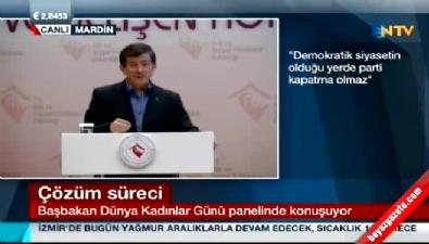 Başbakan Davutoğlu'ndan 'parti kapatma' açıklaması