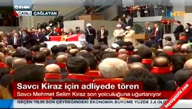 Adalet Bakanı Kenan İpek, Savcı Mehmet Selim Kiraz'ın cenaze töreninde konuştu