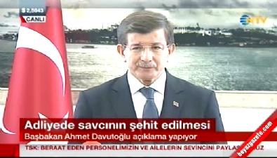 Davutoğlu şehit savcı Mehmet Selim Kiraz ile ilgili açıklama yaptı