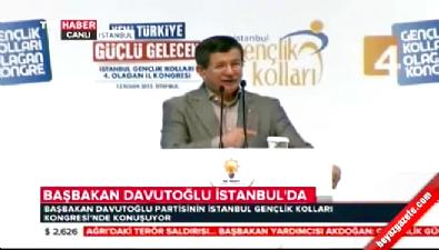 Başbakan Davutoğlu AK Parti İstanbul İl Gençlik Kolları Kongresi'nde konuştu