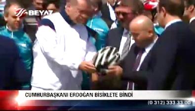 Cumhurbaşkanı Erdoğan'ın bisiklet turundan özel görüntüleri