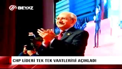CHP'nin seçim vaatleri Kılıçdaroğlu tarafından açıklandı