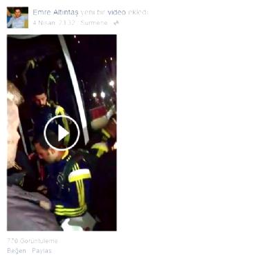 fenerbahce - Emre Altıntaş'ın Paylaştığı Fenerbahçe Otobüsüne Saldırı Görüntüsü