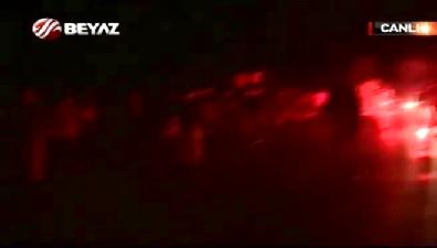 Fenerbahçeli taraftarlar takım otobüsüne saldırdı