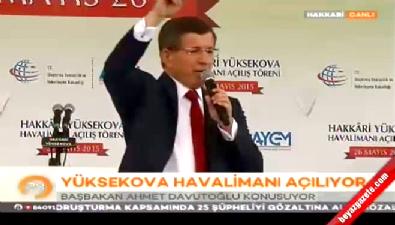Başbakan Ahmet Davutoğlu Yüksekova Havalimanı açılış töreninde konuştu
