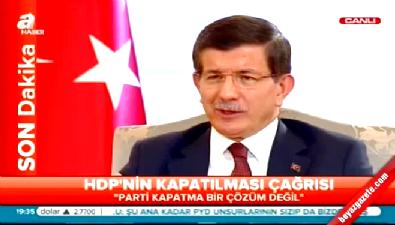Başbakan Davutoğlu'dan Selahattin Demirtaş'a: Sözün geçmiyorsa niye İmralı'ya gidiyorsun