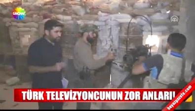 TRT ekibi vurulmaktan son anda kurtuldu