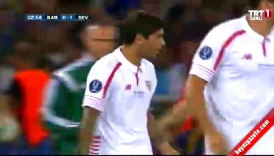 barcelona - Barcelona: 0 Sevilla: 1 (Gol: Banega) UEFA Süper Kupa finali