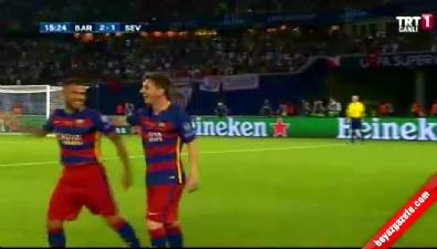 barcelona - Barcelona: 2 Sevilla: 1 (Gol: Messi) UEFA Süper Kupa finali