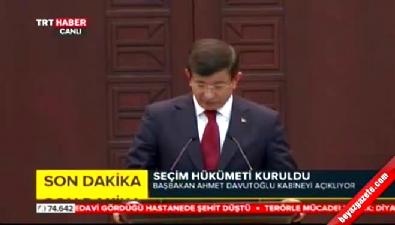 Başbakan Davutoğlu kabine listesini açıkladı