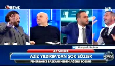 fenerbahce - Sinan Engin canlı yayında bardak fırlattı