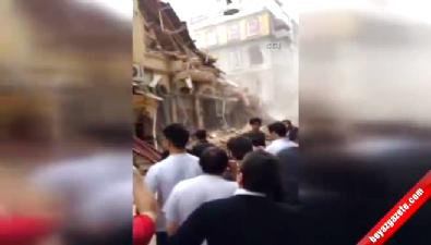 5 katlı bina çöktü!