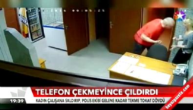 Telefon çekmeyince görevli kadını evire çevire dövdü