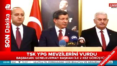 Başbakan Ahmet Davutoğlu'ndan Son dakika 'YPG' Açıklaması