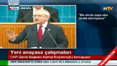 Atatürk'e benzeyen kişi CHP grup toplantısına geldi