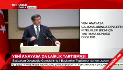 Başbakan Davutoğlu'ndan lailklik açıklaması